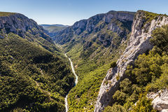 Gorges Du Verdon Canyon Between Two Cliffs-,France Royalty Free Stock Images