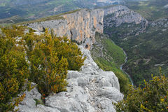 Gorges du Verdon climbing wall Royalty Free Stock Photography