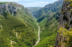 Gorges du Verdon in de Provence, Frankrijk Stock Foto