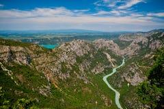 Gorges du Verdon e san Croix del lago Fotografie Stock Libere da Diritti