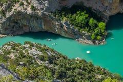 Gorges du Verdon France photographie stock