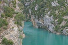 Gorges du Verdon, Frankrijk Stock Foto's