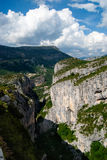 Gorges du Verdon. The Grand Canyon of the Verdon river, France Stock Photography