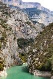 Gorges du Verdon, Haute Provence, al sur de Francia fotos de archivo libres de regalías