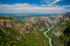 Gorges du Verdon and Lake Saint Croix Royalty Free Stock Photos