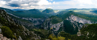 Gorges du Verdon. Panoramic view on the Gorges du Verdon Royalty Free Stock Image