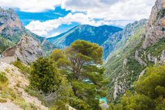 Gorges du Verdon,Provence in France, Europe. Beautiful view on l Royalty Free Stock Photos