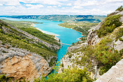 Gorges du Verdon,Provence in France, Europe. Beautiful view on l Stock Photos