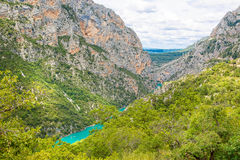 Gorges du Verdon,Provence in France, Europe. Beautiful view on l Stock Image