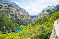 Gorges du Verdon,Provence in France, Europe. Beautiful view on l Royalty Free Stock Photography