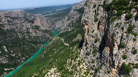 Gorges du Verdon - Provence - France stock video