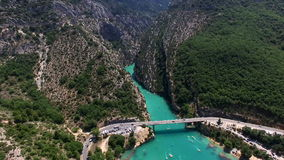 Gorges du Verdon - Provence - France stock video footage
