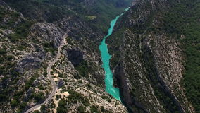 Gorges du Verdon - Provence - France stock footage