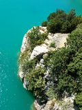 Gorges du Verdon, Provence, France - seen from above. The turquoise water in the lac de Saint Croix, Provence, France Stock Photos