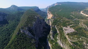 Gorges du Verdon - Provence - Francia almacen de video