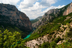 Gorges du Verdon. The Verdon river flows through the Gorges du Verdon Stock Images