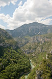 Gorges du Verdon from viewpoint. Gorges du Verdon, Provence France from viewpoint on mountain road Royalty Free Stock Photos