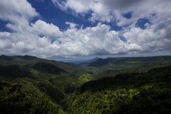 Gorges noires de rivière - Îles Maurice Images stock