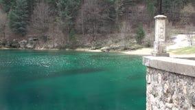 Gorges of Sagittarius, Scanno Abruzzo. Small lake in the valley of Sagittarius, Scanno Abruzzo Italy stock video footage