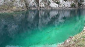 Gorges of Sagittarius, Scanno Abruzzo. Small lake in the valley of Sagittarius, Scanno Abruzzo Italy stock video