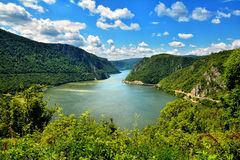 Gorges spectaculaires de Danube photo stock
