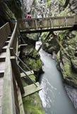 Gorges in Switzerland stock photos