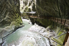 Gorges in Switzerland royalty free stock photo