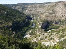 Gorges of the Tarn. France Royalty Free Stock Photography
