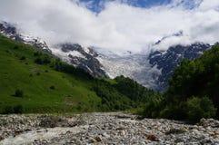 Gorgeus冰川Tetnuldi在乔治亚 库存图片