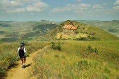 Gorgia, découvrent le monastère de Gareja de davier photos libres de droits