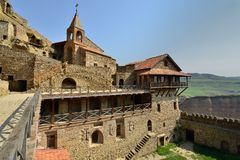 Gorgia, découvrent le monastère de Gareja de davier photo libre de droits