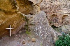 Gorgia, découvrent le monastère de Gareja de davier photographie stock