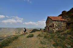 Gorgia, découvrent le monastère de Gareja de davier image stock
