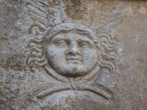 Gorgon in der alten Stadt von Ephesus Lizenzfreies Stockbild