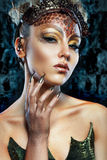 Gorgon girl in dungeon Royalty Free Stock Photos