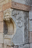 Gorgon Mask and Triton at the corner of Corso Borsari street, Ve Stock Photos