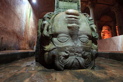 Gorgon Medusa. The Basilica Cistern Royalty Free Stock Photography