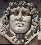 Gorgon Medusa in Didim. Gorgon Medusa in temple of Apollo Didim Turkey Stock Photography