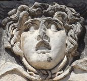 Gorgon Medusa in Didim. Gorgon Medusa in temple of Apollo Didim Turkey Royalty Free Stock Photos