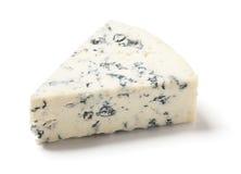 Gorgonzola or Bleu Cheese on White Background Royalty Free Stock Photos
