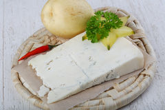 Gorgonzola cheese with pear Royalty Free Stock Images