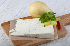 Gorgonzola cheese with pear Stock Images