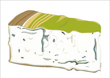 Gorgonzola-Käse lizenzfreie abbildung