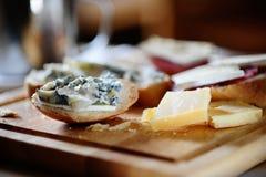 Gorgonzola and parmezan Stock Photography