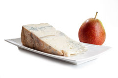 gorgonzola and pear Royalty Free Stock Photo