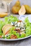 Gorgonzola salad with pear Royalty Free Stock Photo