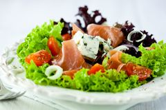 Gorgonzolla and prosciutto crudo salad Royalty Free Stock Photography