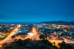 Gori,实达Kartli地区,乔治亚 在Il的Gori都市风景 免版税库存照片