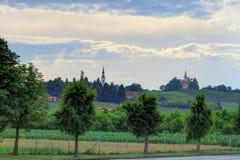 Goricak,克罗地亚教会和乡下  库存照片