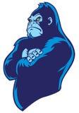 Gorila cruzado do braço ilustração stock